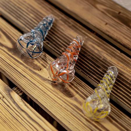 Glaspfeife – Spirale mit Spiral Muster